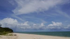 宮古島の空と海