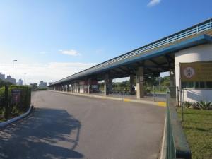 ストライキの時のバスターミナル