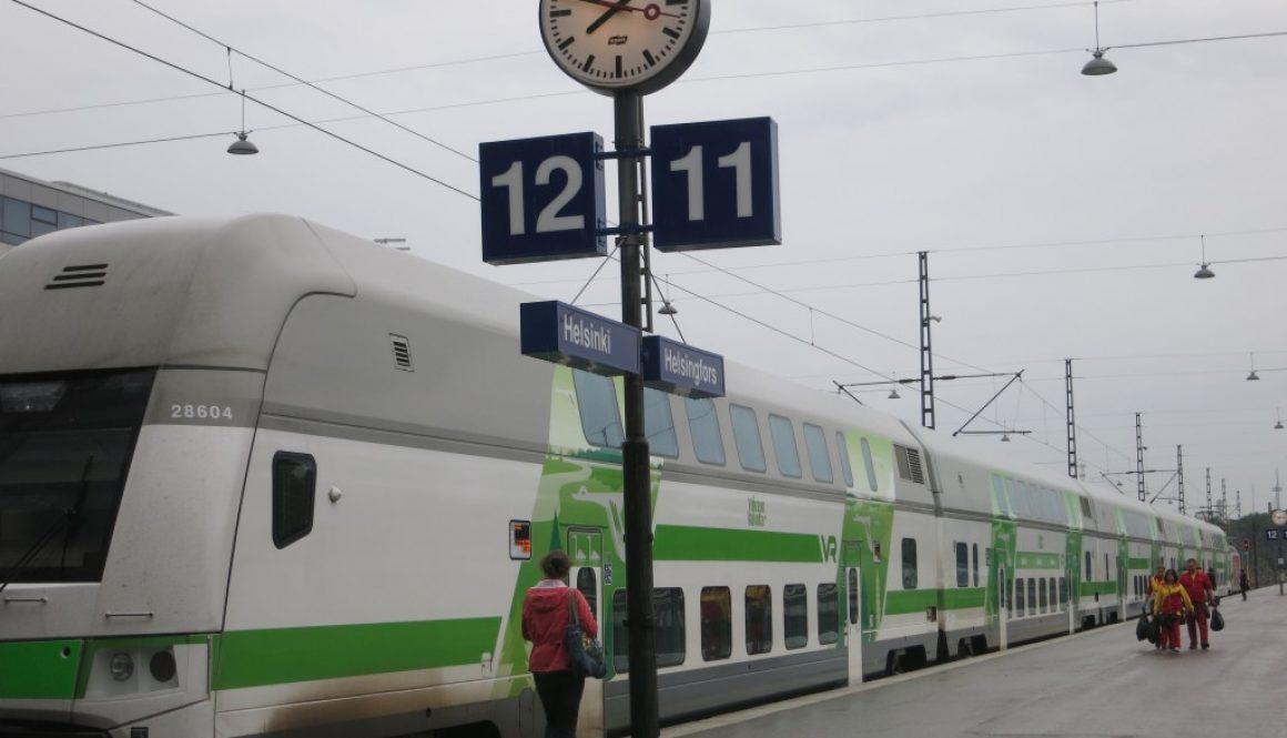 ヘルシンキからトゥルクへ移動する電車 Helsinki to Turku
