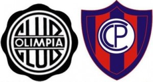 OlimpiaとCerroのチームロゴ Team logos of `Olimpia` and `Cerro`