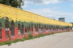 リトアニアの首都のビリニュスにあるバルトの道の記念碑