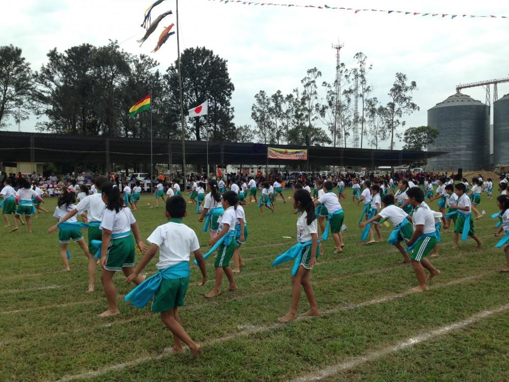 ボリビア日本人移住地サンフアン Bolivia Nikkei(Japanese) emigrant town, San Juan:運動会 Sports Festival